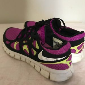 afcac141efc3 ... hot nike shoes womens nike purple yellow black free run 2 shoes 41d0f  5bd25